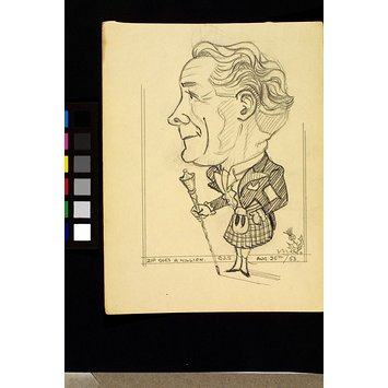 Caricature - Arthur Logan in Zip Goes a Million