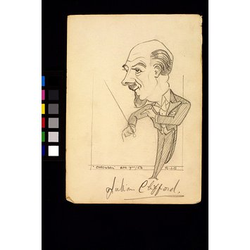 Caricature - Julian Clifford conducting Carousel