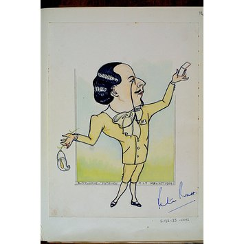 Caricature - Peter Pratt as Bunthorne in Patience