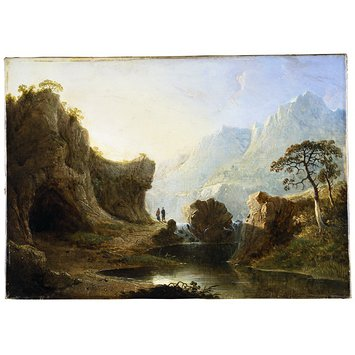 Oil painting - Mountain Landscape with Rocks