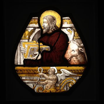 Panel - The Evangelist Luke with an ox head