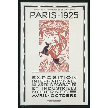 Poster - Paris, 1925 : Exposition Internationale des Arts Décoratifs