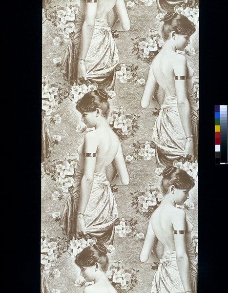 Wallpaper with a design of half naked women