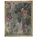 The Witch Anqarut ties Malik Iraj to a tree (Painting)