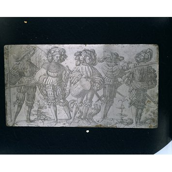Printing plate - Five German soldiers