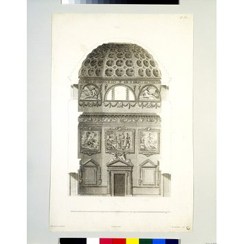 Print - Plate 72, Cross-section of Octagon at Chiswick House; The Designs of Inigo Jones...With some Additional Designs