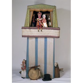 Puppet booth - The Baby's Cry; Gus Wood's Up-to-date Punch and Judy