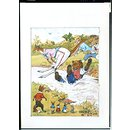 'The Obstacle Race'; Animals jumping a stream (Illustration)