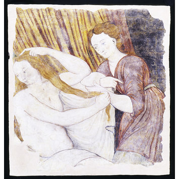 Panel - Psyche at her Toilet (from Hill Hall, Essex)