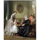 Grandmother's Birthday; La Fte de la Grandmre (Oil painting)