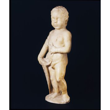 Statue - Putto with a Shield