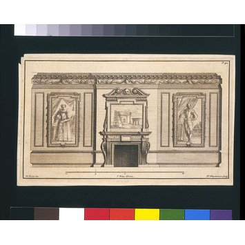 Print - Plate 42, a drawing room; The Designs of Inigo Jones and others