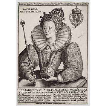 Engraving - Queen Elizabeth I