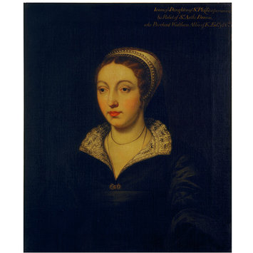 Oil painting - Joan Champernoune [Champernon], daughter of Sir Philip Champernoune [Champernon] of Modbury, Devon, and wife of Sir Anthony Denny (d.1549)