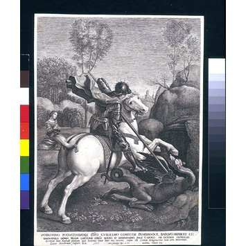 Engraving - St George and the Dragon