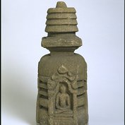 Part of a votive stupa