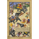 Trained elephants execute the followers of Khan Zaman (Painting)