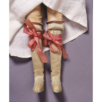 Pair of doll's garters