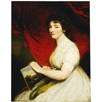 Oil painting - Miss Mary Linwood, Artist in Needlework