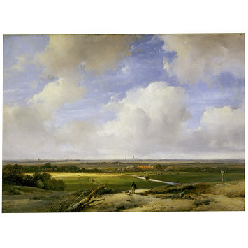 Oil painting - Landscape near Haarlem