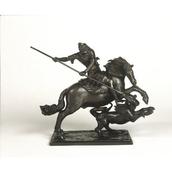 Statuette - St George and the Dragon; St George on Horseback