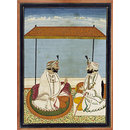 Maharaja Gulab Singh and his son (Painting)