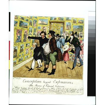 Satirical etching - Conception beyond Expression; or The Acme of Pictorial Criticism