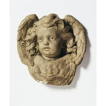 Model - Winged cherub head