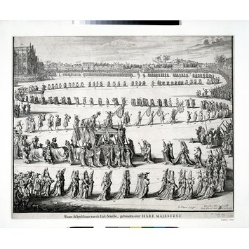 Print - The Funeral procession of Mary II