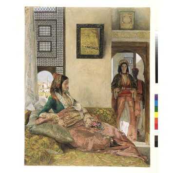 Watercolour - Life in the Hareem, Cairo; An Inmate of the Hareem, Cairo