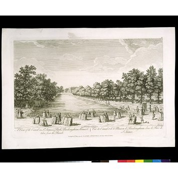 Print - A View of the Canal in St. James's Park,  Buckingham House &c.