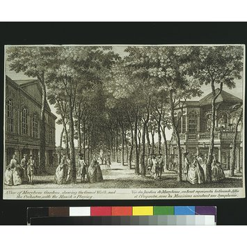 Print - A View of Marybone Gardens
