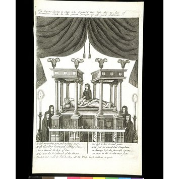 Print - Queen Mary II lying in state