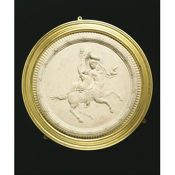 Medallion - A Female centaur and bacchante