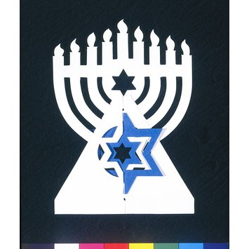 Greetings card - Menorah
