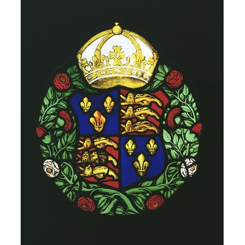 Panel - Arms of Tudors; Arms of Henry VIII; Arms of Edward VI