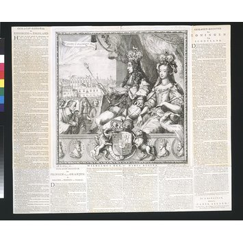 Print - Coronation of William III and Queen Mary II