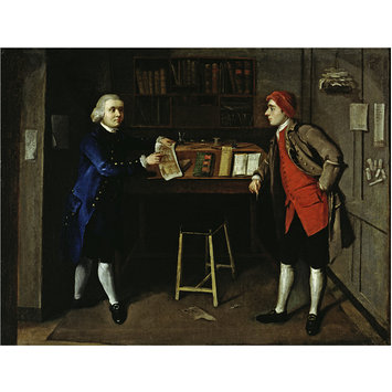 Oil painting - A Cabinet-Maker's office