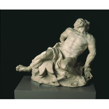 Figure - Vulcan (or possibly Prometheus) chained to a rock