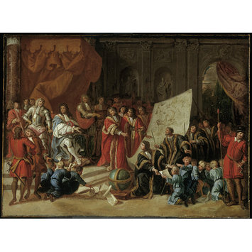 Painting - Charles II Giving Audience at Christ's Hospital