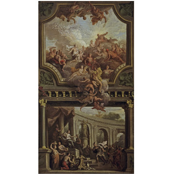 Oil painting - Aeneas before Dido, and Venus Supplicating Jupiter