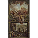 Aeneas before Dido, and Venus Supplicating Jupiter (Oil painting)