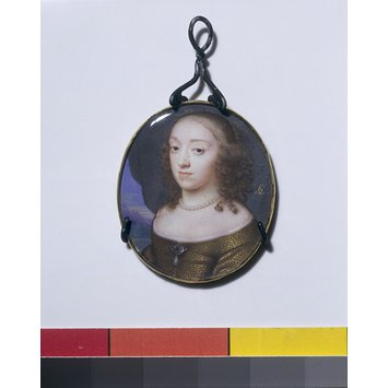 Portrait miniature - A Woman, possibly Elizabeth, Mrs Claypole, second daughter of Oliver Cromwell 