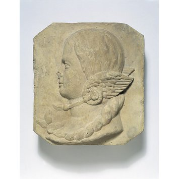 Fragment from a frieze - Profile of a girl