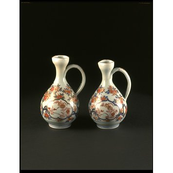 Pair of condiment bottles