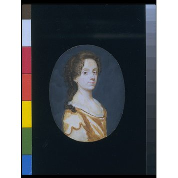 Portrait miniature - A Woman, presumably a self-portrait of Susannah-Penelope Rosse