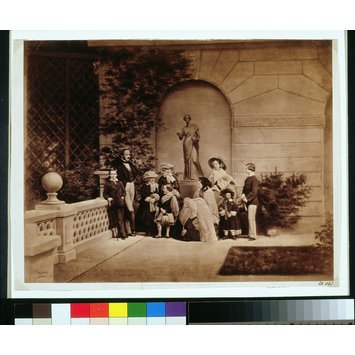 Photograph - The Royal Family on the terrace at Osborne House