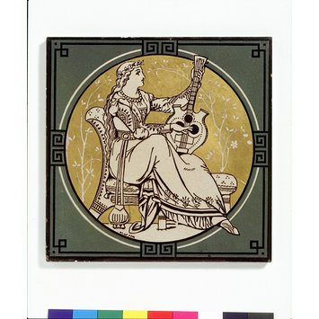 Tile - Classical Figures with Musical Instruments
