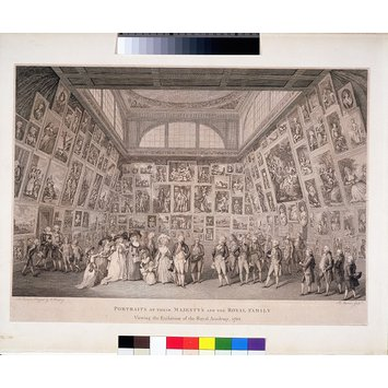 Print - The Royal Family at the Royal Academy