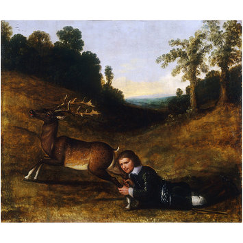 Painting - Colonel Smith Grasping the Hind Legs of a Stag
